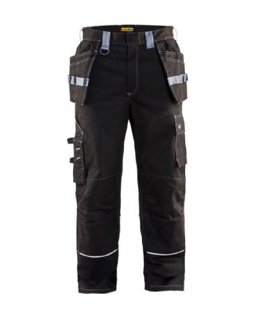 "CLEARANCE Blaklader 1461  Flame Retardant Craftsman Trousers (Black / Grey) D104 39""W 29""L"